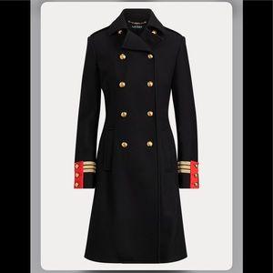 NWT Ralph Lauren Wool-Blend Officer's Coat